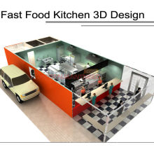 Shinelong Hotel Kitchen Equipment Fastfood Kitchen Design