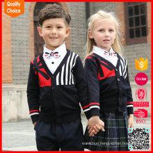 2017 long sleeve V-neck customized british school uniforms