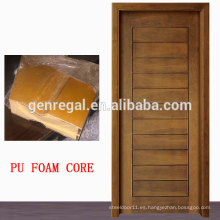 Puerta de madera llena de poliuretano con panel HDF