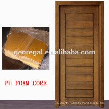 Экономия тепловой Сандвича пены PU ядро внутренние деревянные двери