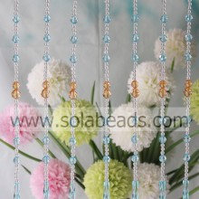Curtain Trimming 6MM&12MM&14MM&40MM Wire Crystal Plastic Bead Strands Garland