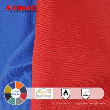 résistance thermique fr coton polyester tissu pour vêtements de travail