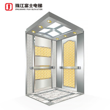 China Fuji Brand Oem Panoramic Cheap Residential Square Gearless Led Glass Mirror Good View Sightseeing Elevator Lift
