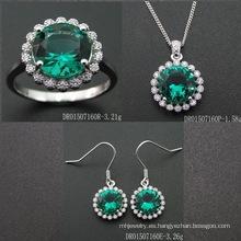Fashion Emerald Color Gemstone Jewelry Set