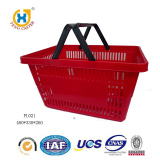 Convenient Black Handle Plastic Shopping Basket Of Supermarket Use