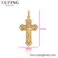 33705 xuping jewelry 24k gold plated fashion Dubai religious luxury style cross pendant