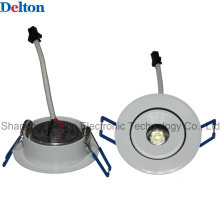 1W Flexível Round dimmable LED teto Spot Light (DT-TH-1E)