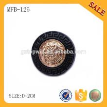 MFB126 Forme el tipo redondo de la ropa del botón de la rana del metal de la forma con el logotipo