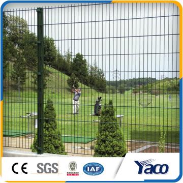 ПВХ покрытием сварная сетка заборная панели в 6 датчик
