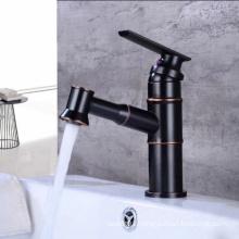 YLB0141 Single hole bathroom black basin faucet, ORB faucet for wash basin