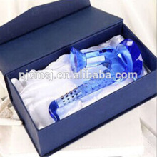 Blue Crystal Glass Saxophone Model Musical Instrument for Home Decorations & Gifts CO-M007