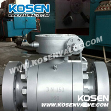 DIN Cast Steel Trunnion Ball Valves with Gear Box