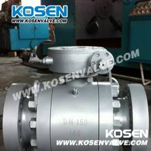 Válvulas de esfera do munhão do aço de molde do RUÍDO com caixa de engrenagens