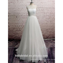 ZM16038 Elegant White Beach Wedding Dresses Casual Simple Softy Chiffon Wedding Gown
