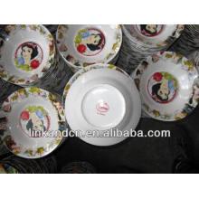 Haonai 2014 cerámica a granel Blanca Nieve cena / placa de sopa