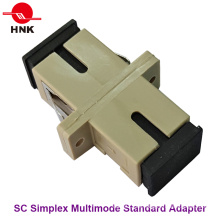 Sc Simplex Multimode Standard Kunststoff Faseroptik Adapter