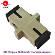 Sc Simplex Multimode Adaptador padrão de fibra óptica de plástico