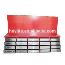 banco de trabajo del cajón de la placa laminada en frío con el tablero de clavos