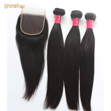 Cambodian Human Hair Bundles With Closure