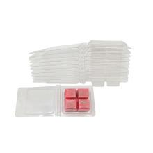 La cera de embalaje de velas de plástico transparente derrite las conchas