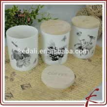 Wholesale Durable Porcelain Colorful Airtight Canister for home