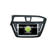 Lecteur DVD de voiture quad core avec gps, wifi, BT, lien miroir, DVR, SWC pour Hyundai I20
