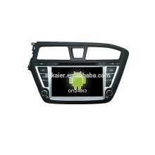 Quad core car dvd player with gps,wifi,BT,mirror link,DVR,SWC for Hyundai I20