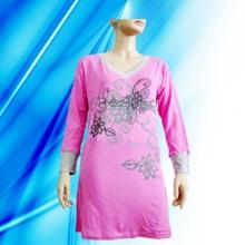 100% Baumwolle Dame Entlassung Print Nightdress