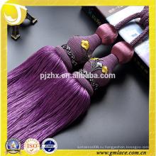 Аксессуары для занавеса оптовой фиолетовой занавески