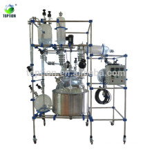 Три стеклянный реактор 100л слоя(система Автоматическ-управления с стеклянный реактор с рубашкой)
