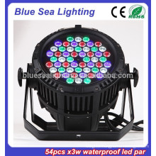 54pcs x 3w stage light disco equipment IP65 par 56 led par 64 3 watts