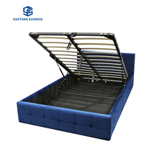Factory Wholesale New Modern Furniture Queen King Size Velvet Storage Bed