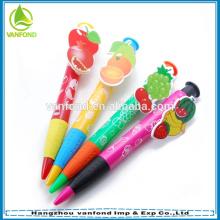 Fruits personnalisé clip nouveauté stylo à bille pour cadeau