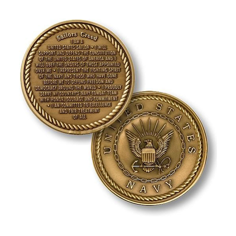 Personalized Commemorative Coins For Sailors Creed