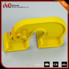 Dispositivo de bloqueio de segurança de plástico amarelo e elepopular de fácil escolha para grandes disjuntores
