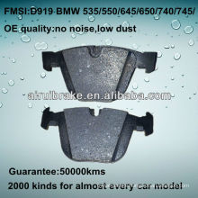 D919 OE QUALITY brake pad for BMW CAR