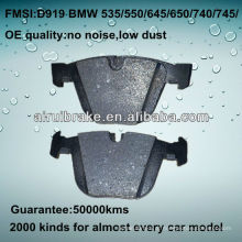 D919 OE QUALITY freio pad para BMW CAR