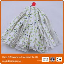 Tête de vadrouille en tissu non-tissé en polyester viscose imprimée