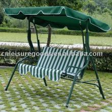Metal 3-seat swing chair garden