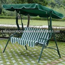 Jardim de 3 cadeiras de balanço em metal