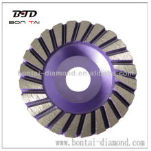High Quality 100mm Aluminium Turbo Diamond Cup Wheel for floor grinding
