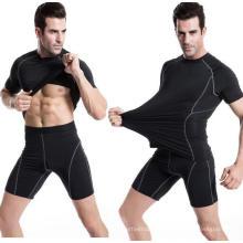 Treino Running da roupa da aptidão que caminha o t-shirt dos esportes dos homens