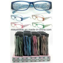 Senhoras moda plástico leitura óculos (MRP21679)