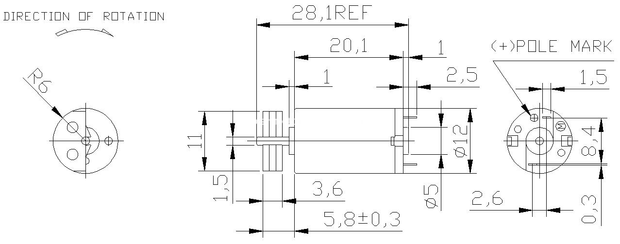 12mm vibrator motor