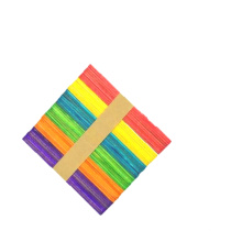 Wholesale High Quality 114x10x2 mm colorful Wooden diy Ice cream stick For children craft
