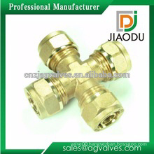 china manufacture customized good sale cw614n or cw617n 4 way forged copper fitting for pex al pex pipes