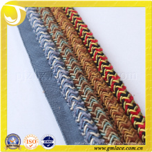 Algodón Cuerda decorativa para la decoración del amortiguador Decoración del sofá Sala Sitio de la cama