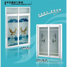 UPVC Bathroom Door with Frosted Glass and ventilator shutter