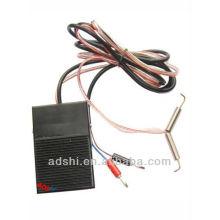2015 la venta caliente de doble interruptor de enchufe de 3,5 mm y pedal con rojo - clipcord blanco