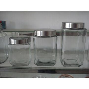 Large Glass Jar Kitchenware Food Storage Jar with Lid